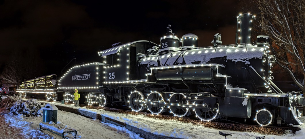 Night Sight Train Pano