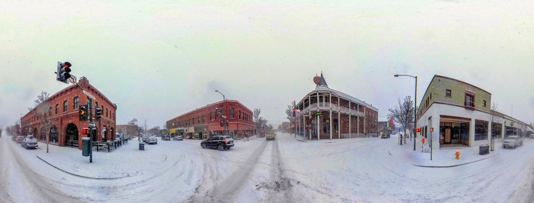 Snowy Flagstaff